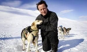 David Cameron on top of Scott-Turner glacier on Svalbard
