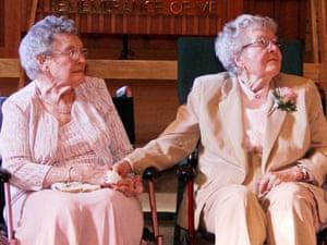 The wedding of Vivian Boyack, left, and Alice 'Nonie' Dubes.