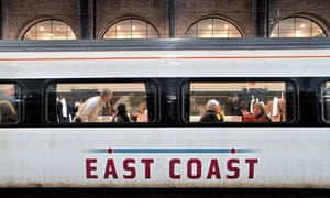 East Coast train at London's Kings Cross station.
