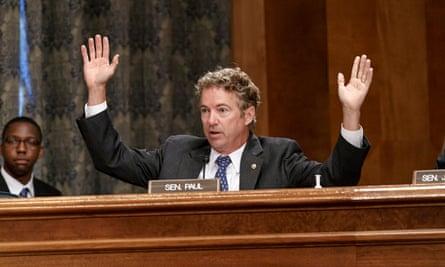 Rand Paul at Senate hearing