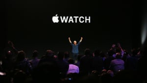 Apple chief executive Tim Cook introduces the new Apple Watch during Apple's launch event at the Flint Centre for the Performing Arts in Cupertino, California.