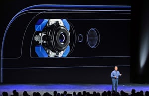 The iPhone 6 and 6 Plus both come with improved eight-megapixel cameras, as shown off by Apple's head of product marketing Phil Schiller.