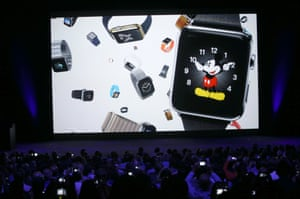 The Apple Watch will have many different customisable faces, from traditional analogue faces to digital displays.