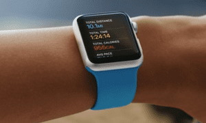 The Health and Fitness app on the Apple Watch.