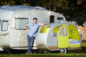 43-year-old Yannick Read from London, UK, who has secured a place in the 2015 Guinness World Records book for building the worlds smallest caravan. The vehicle, which is fully road worthy, measures 2.39m (7ft 10.9in) in length, 1.53 m (5ft 0.24in) high and 0.79 m (2ft 7.9in) wide.