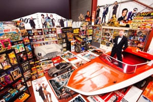 47-year-old Nick Bennett from Leigh in Lancashire, UK, who has secured his place in the Guinness World Records 2015 book for owning the Largest Collection James Bond Memorabilia, a staggering 12, 463 items at last count.