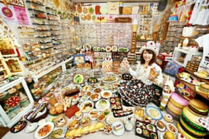 Akiko Obata, who has secured her place in the 2015 Guinness Book of Record for having the largest collection of plastic food, with more than 8,000 items filling her apartment
