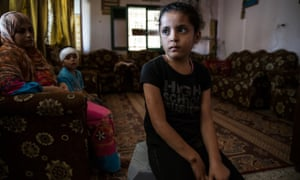 Najia Warshagha at her uncle's house in Beit Lahia, Gaza Strip.