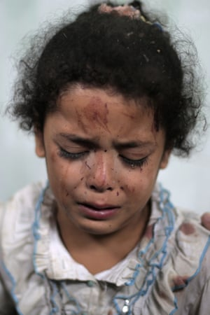 The photo of Najia that became a symbol of the Gaza conflict.