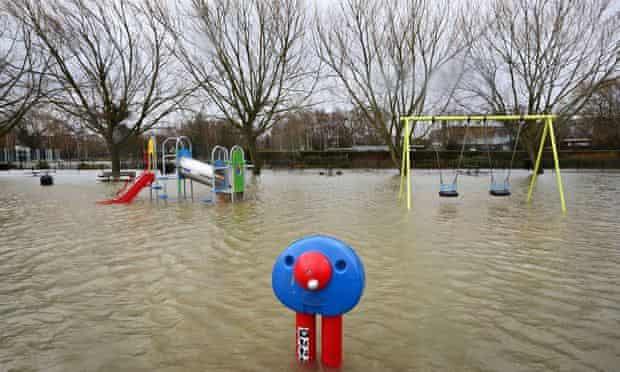 Winter floods in Tonbridge Kent, December 2013