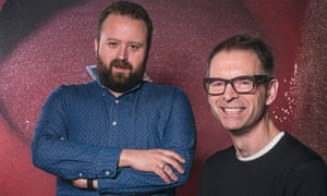 Al Brown. head of video content at Vice, and Kevin Sutcliffe, head of news, at the company's London office.