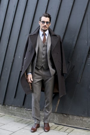 Model David Gandy wearing Marks & Spencer on day 1 of London Collections: Men