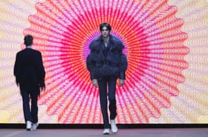 Models present creations by Topman Design on the opening day of the Autumn/Winter 2015 London Collections: Men fashion event.