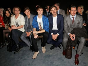 Matilda Lowther, Jamie Campbell Bower, Oliver Cheshire, Douglas Booth, a guest and David Gandy attend the Coach presentation