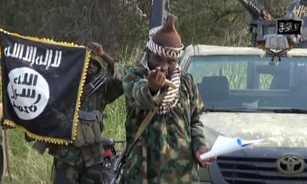 Boko Haram leader Abubakar Shekau in a video released in 2014.