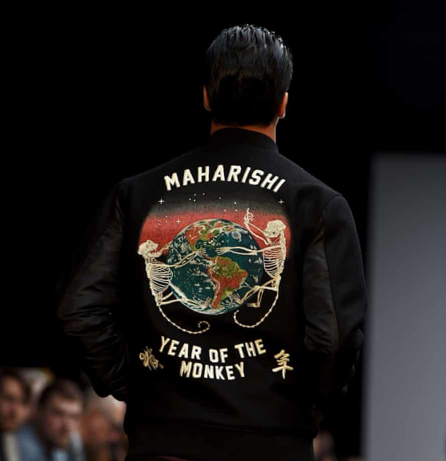 A model in a Maharishi jacket