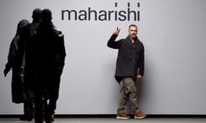 Hardy Blechman on the catwalk after the Maharishi show