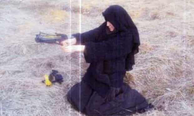 Le Monde online states that this photograph was taken of Hayat Boumeddiene in 2010.