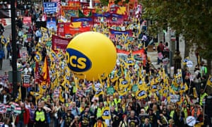 Thousands march during the 'Britain Needs A Pay Rise' demonstration in London