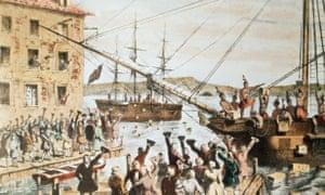 波士顿港茶的破坏