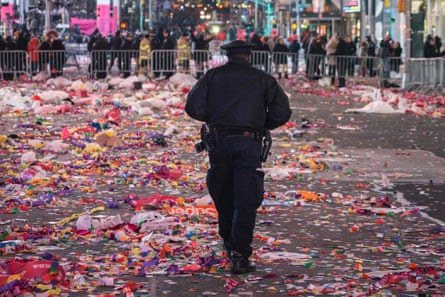 NYPD  officer on New Year's