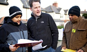 Nick Clegg canvassing in Sheffield Hallam