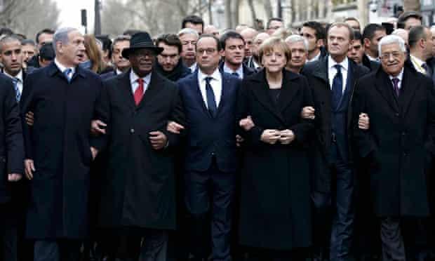 François Hollande on Paris march