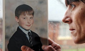 Adam Rickwood's mum with pic of son at inquest