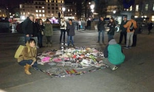 Rebecca (left) with circle of pens in Trafalgar Square, London on Thursday 9 January