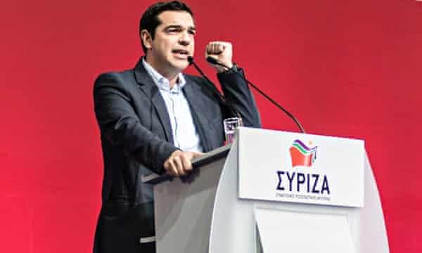 Syriza leader Alexis Tsipras.