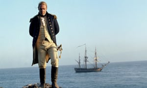 Russell Crowe in Master and Commander: The Far Side of the World, 2003, produced by Sam Goldwyn Jr.