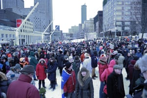 Montreal, Canada Some of the estimated 25,000 people gathered for a rally to show solidarity for the 17 victims of a three-day killing spree by homegrown Islamists.Montreal Mayor Denis Coderre and several Quebec officials joined the French consul general Bruno Clerc at the head of a long procession by marchers waving Canadian, French and Quebecois flags
