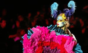 Haute couture collections in Paris 2003.