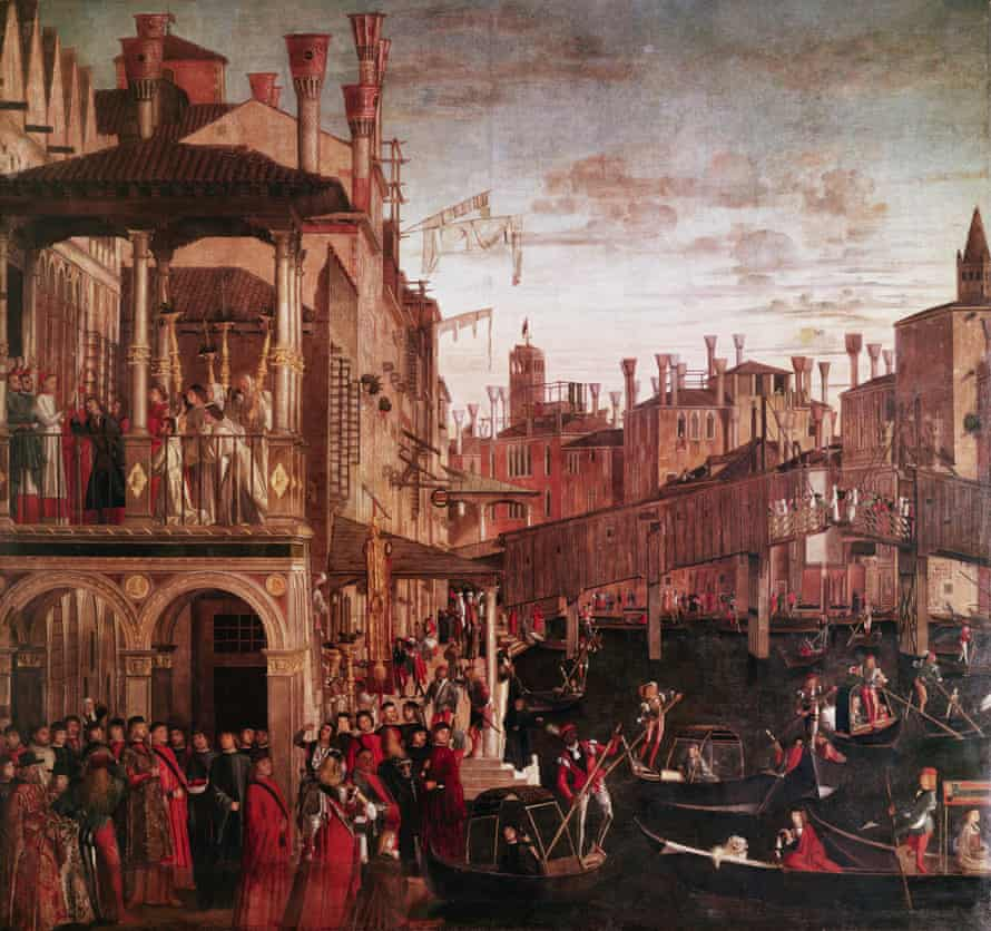 Painting by Vittore Carpaccio (ca. 1460-1525), an Italian painter of the Venetian school, trained in the style of the Vivarini and the Bellini.