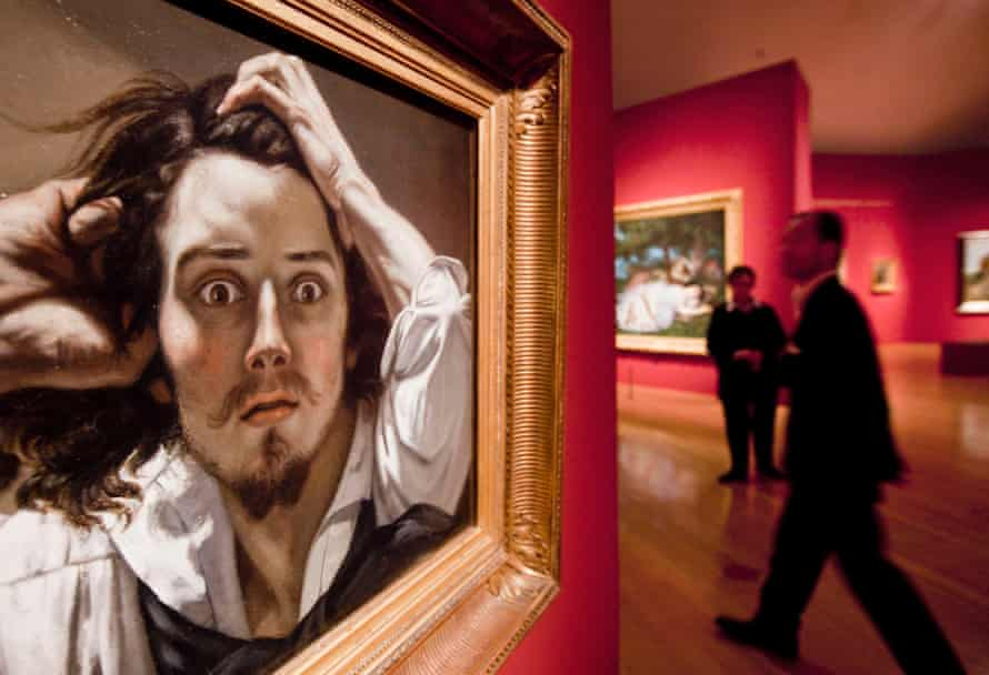 The painting 'The Desperate Man' by French painter Gustave Courbet can be seen at the Schirn Kunsthalle in Frankfurt/Main, central Germany, October 14, 2010.