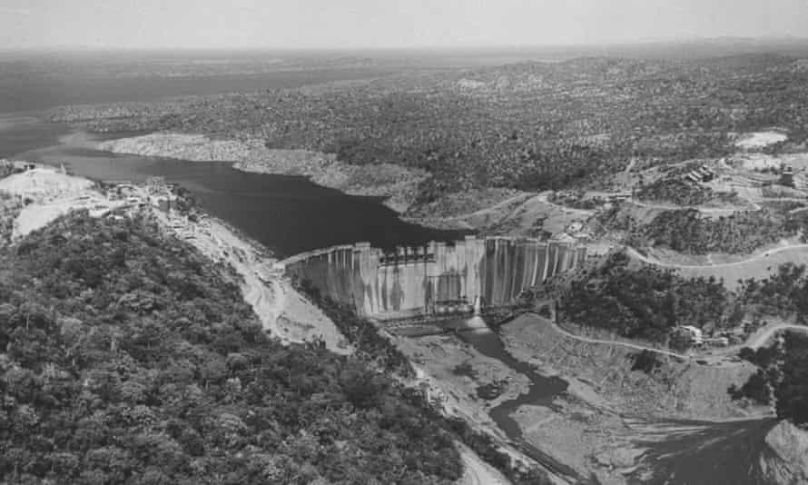 A view of the Kariba Dam.