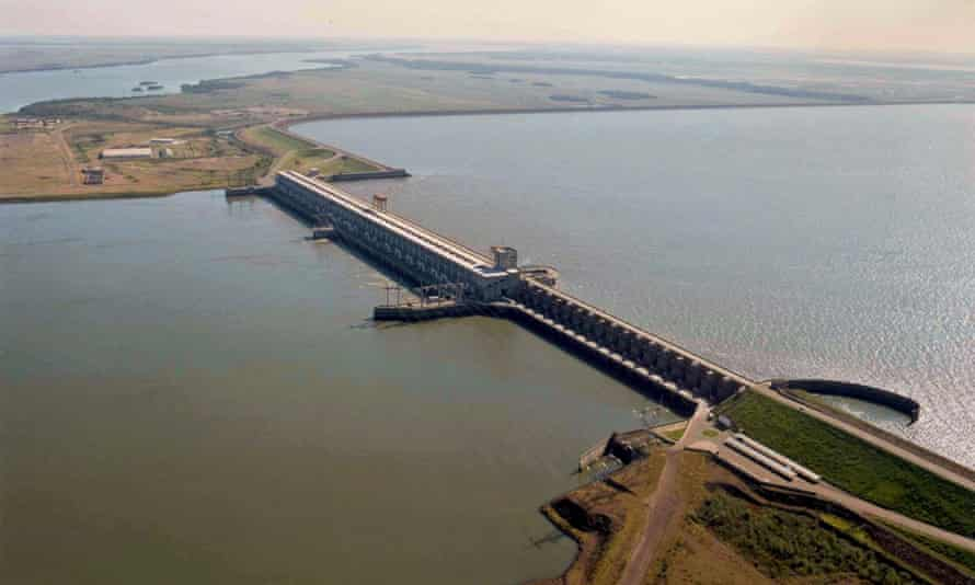 A picture dated 30 Abril 2004 shows hYdroelectric power station Yacireta dam, in the Parana River between the province of Corrientes of Argentina and the Paraguayan city of Ayolas. The project generated controversy and criticism during its planning and construction and earning it a reputation as a 'monument to corruption'.