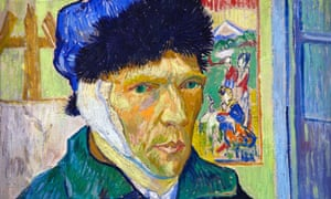 "'Vincent's eyes are crystal blue, his gaze acute and penetrating. He is neither ""sane"" nor ""insane"" but a fellow human being who speaks to us with courage and honesty.' Self-portrait with Bandaged Ear, by Vincent van Gogh, 1889."
