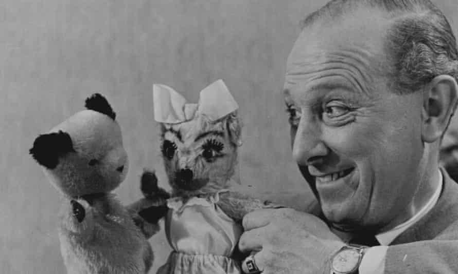 Harry Corbett puppets Sooty (left) and Jezebel.