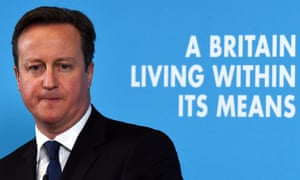 David Cameron delivering his speech on the economy