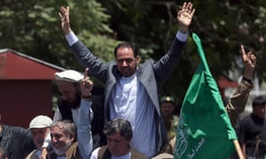 Former head of the Afghan high peace council Salahuddin Rabbani, at a rally in Kabul last year,   has been nominated as foreign minister.