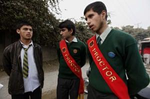 School children leave the Army Public School