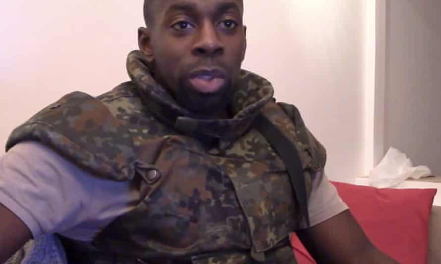 An image from a video posted online showing Coulibaly.