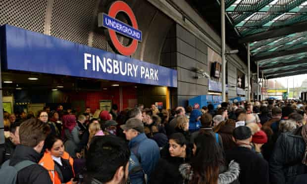 Travellers locked out of Finsbury Park station on 27 December.