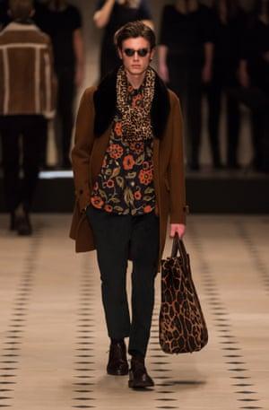 A model on the Burberry Prorsum catwalk