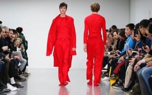 Models on the Craig Green catwalk