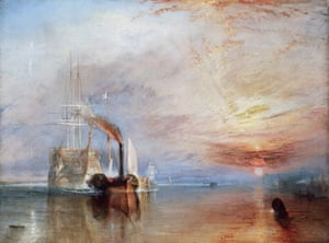 The Fighting Temeraire Tugged to Her Last Berth to be Broken Up, 1838 by JMW Turner.