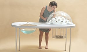 The shape of the Fungi Mutarium, which uses fungi to covert plastic into an edible substance, is inspired by mushrooms and other plants in nature