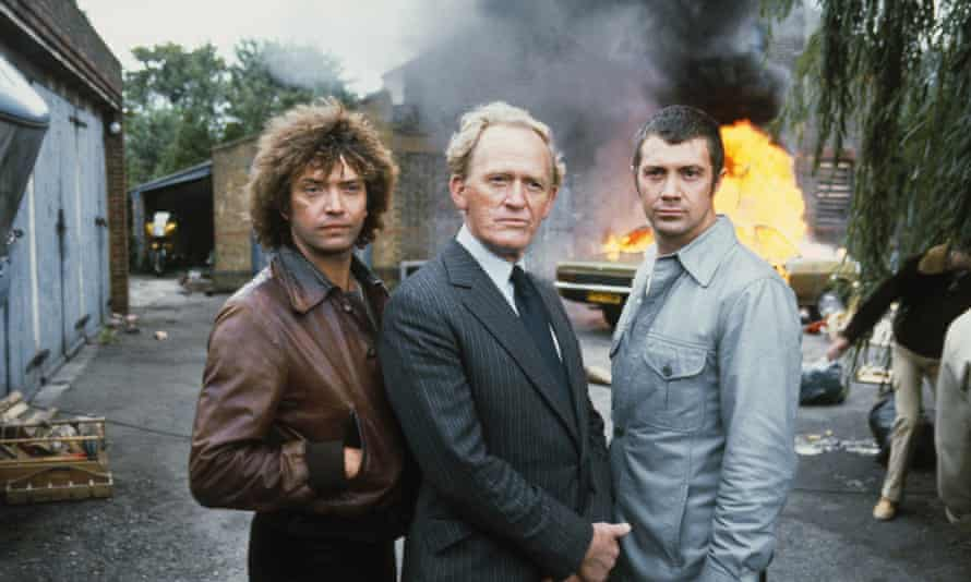 The Professionals, 1978, with Martin Shaw, Gordon Jackson and Lewis Collins.