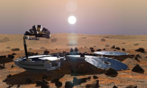 Artist's impression of Beagle 2 on the surface of Mars